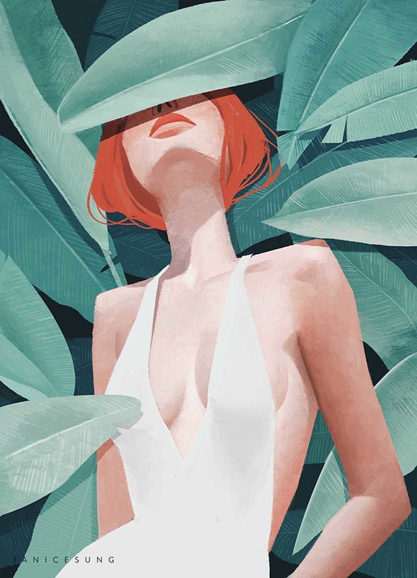 Bellezze che sfidano il tempo: i ritratti femminili di Janice Sung