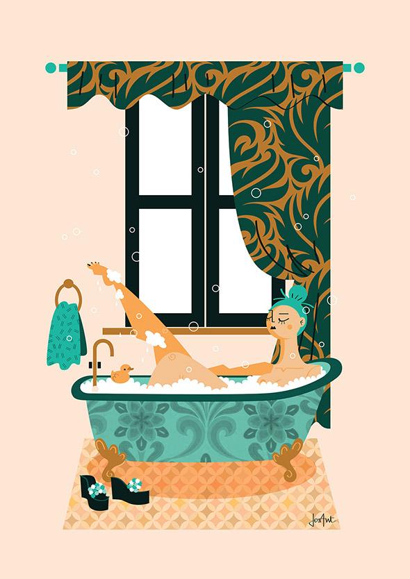 Le illustrazioni art déco di Jessica Antonini