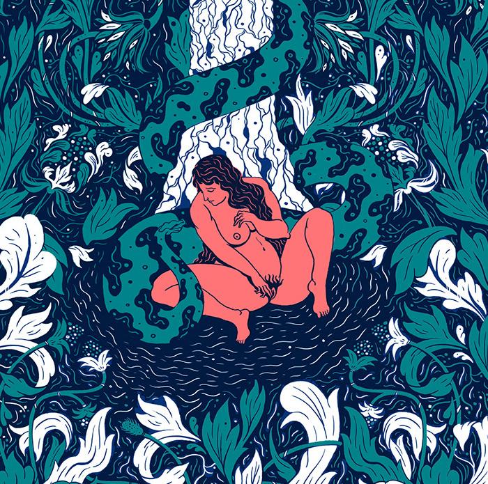 Eros contro Thanatos nelle illustrazioni eclettiche di Julien Brogard