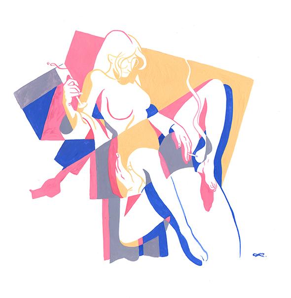 La sensualità illustrata da Kim Roselier