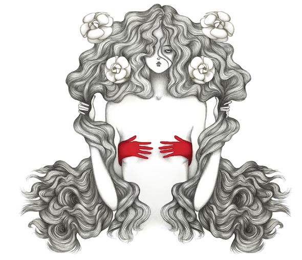 L'illustrazione dark di Laura Laine