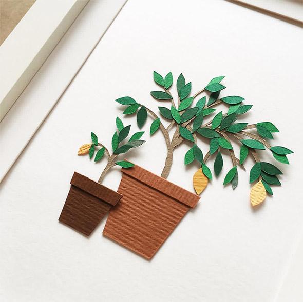 I mini quadri botanici in carta di Lissova Craft