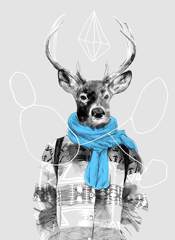 """Le illustrazioni """"pigramente fashion"""" di Marianne Engedal"""