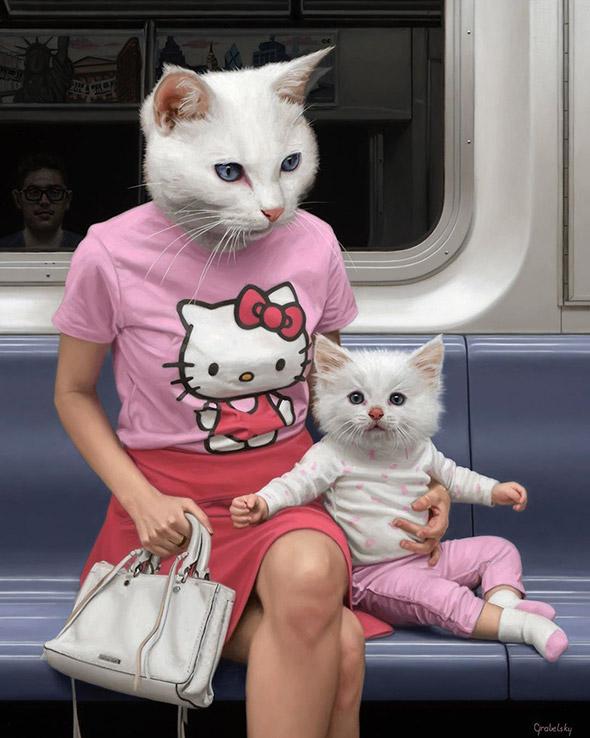 Bizzarri ibridi animali invadono la metro di New York: Matthew Grabelsky