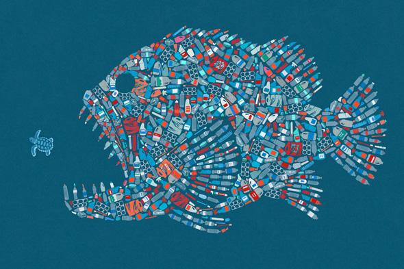 oceani plastica picame john holcroft plastic fish