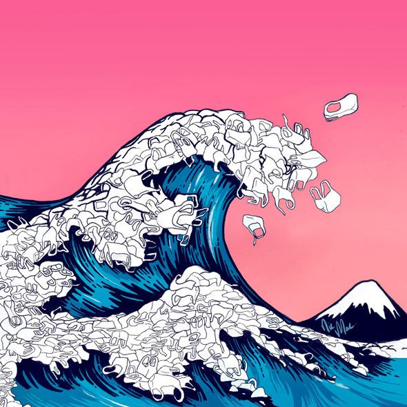 oceani plastica picame nic mac wave plastic bag
