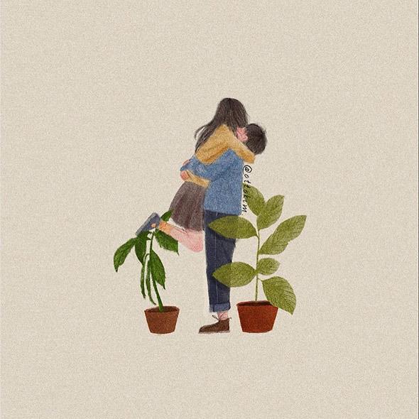 La felicità a tinte pastello nelle illustrazioni di Otto Kim