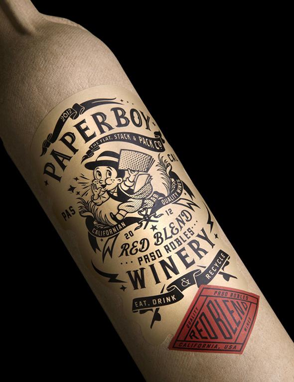 Paperboy Wine Bottle