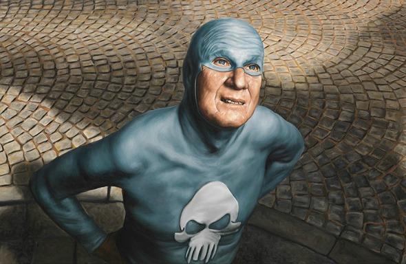 Portraits of an Elderly Superhero
