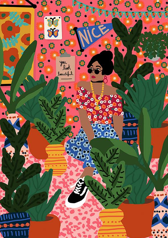 Quando il caos è tutto: le stampe esagerate di Rafaela Mascaro