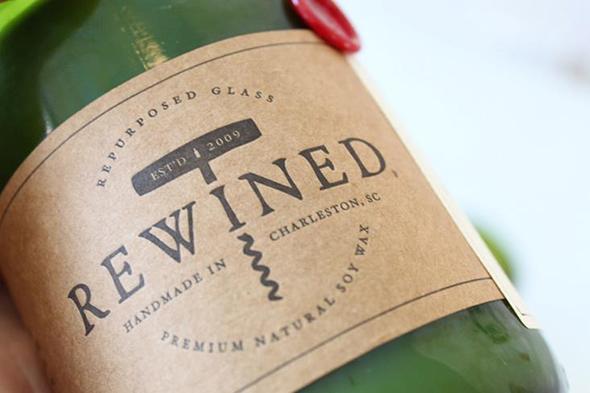 Rewined: bottiglie di vino che diventano candele