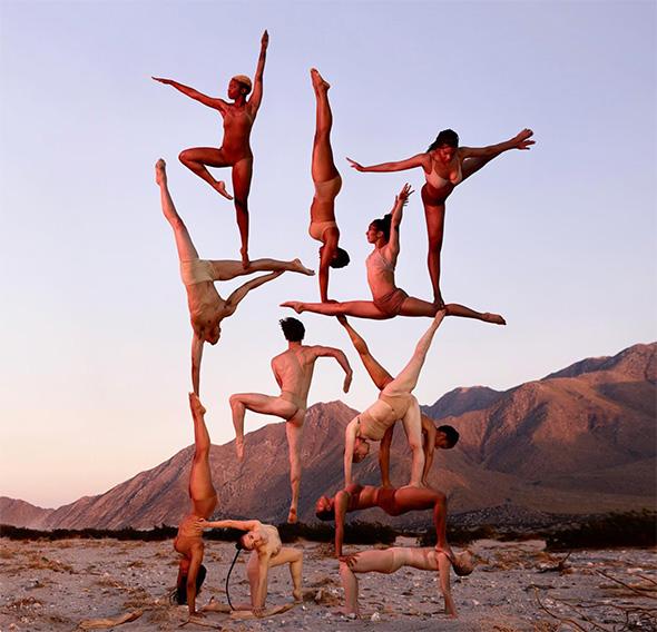 Ballerini che sfidano la forza di gravità nelle foto acrobatiche di Rob Woodcox