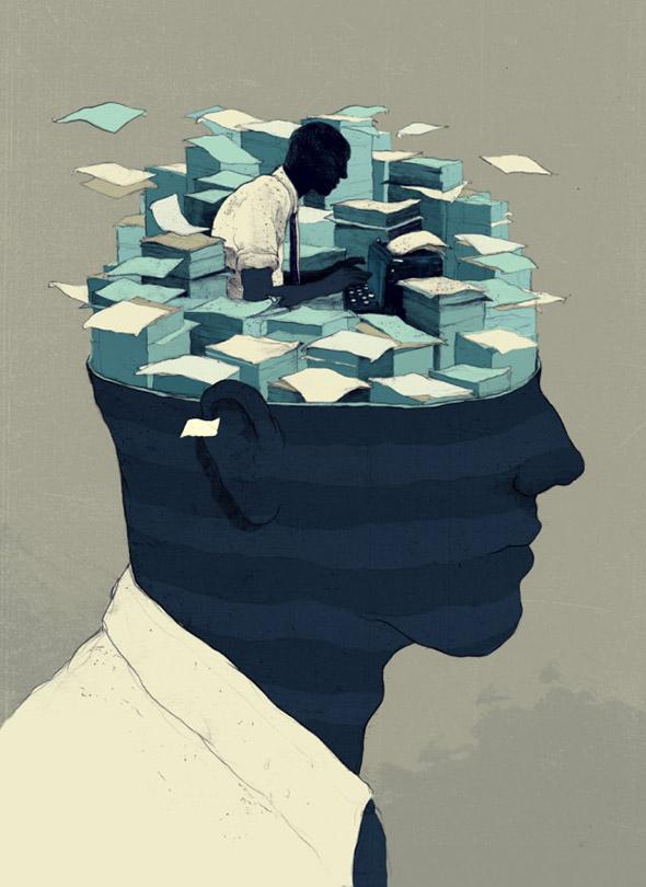 Viaggio nelle profondità della mente umana con le illustrazioni di Simón Prades