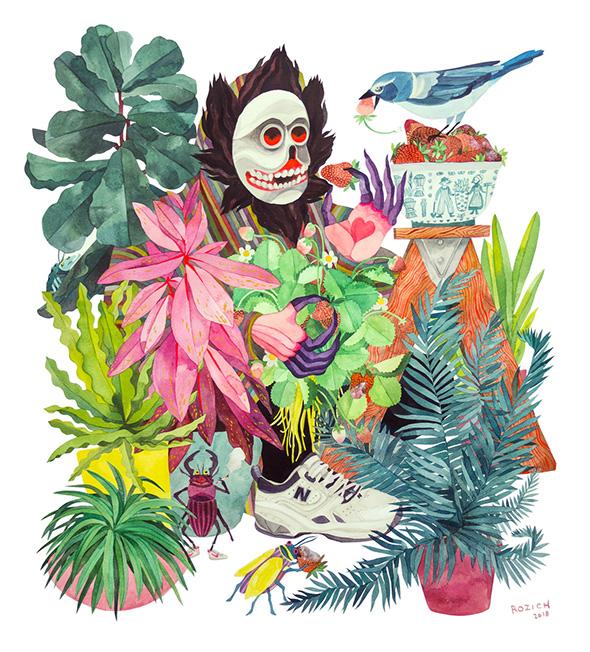 Le inquietanti illustrazioni folkloristiche di Stacey Rozich