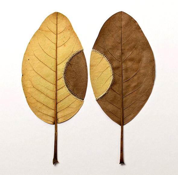 Le foglie incontrano l'uncinetto di Susanna Bauer e diventano piccoli capolavori