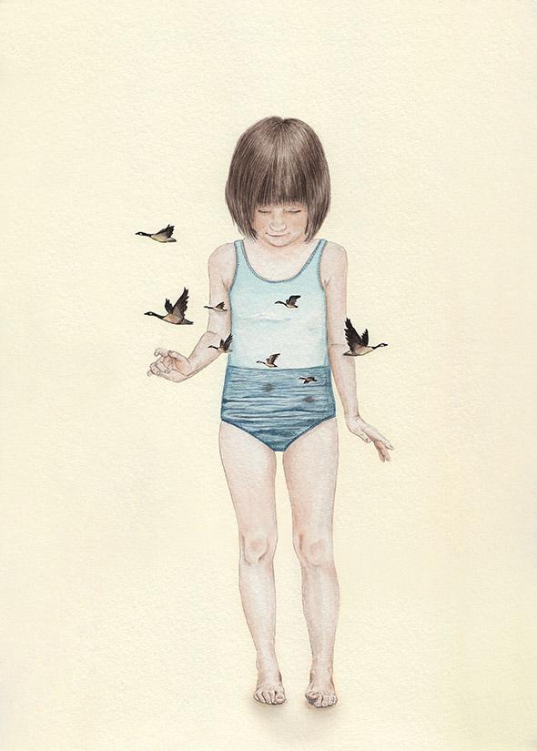 I dolci ricordi d'infanzia diventano surreali nei disegni di Tahel Maor