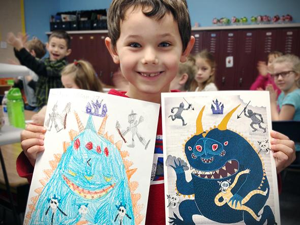 Illustratori piccoli e grandi insieme per stimolare la creatività: The Monster Project