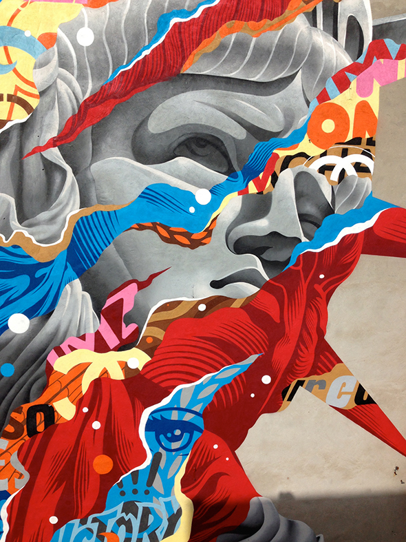 I murales giganti di Tristan Eaton