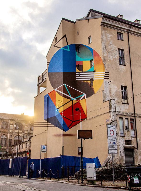 A Torino un murale anamorfico per sconfiggere la fame: l'intervista a Truly