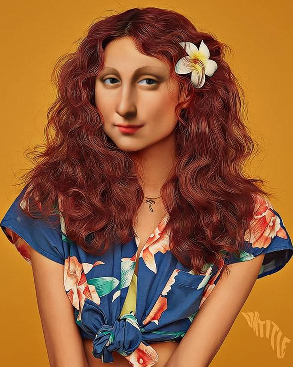 Un artista portoghese crea divertenti fotomontaggi mischiando arte classica e fotografia