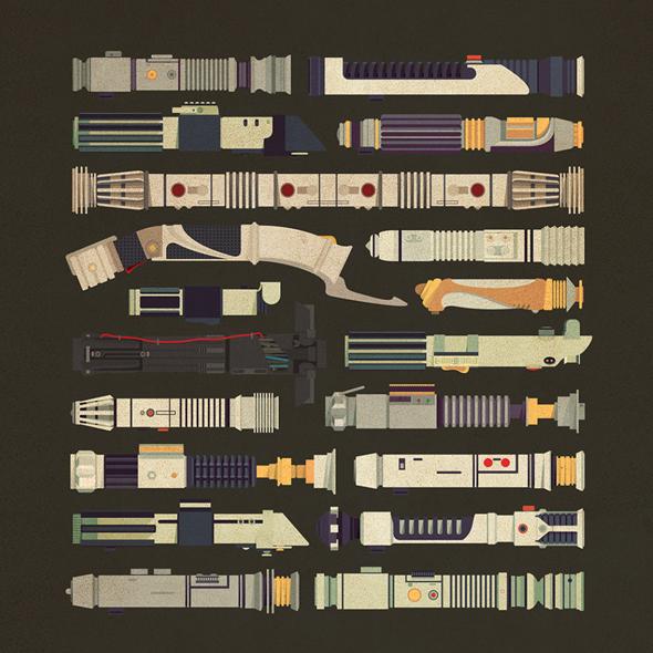 Tutte le spade laser di Star Wars in free download