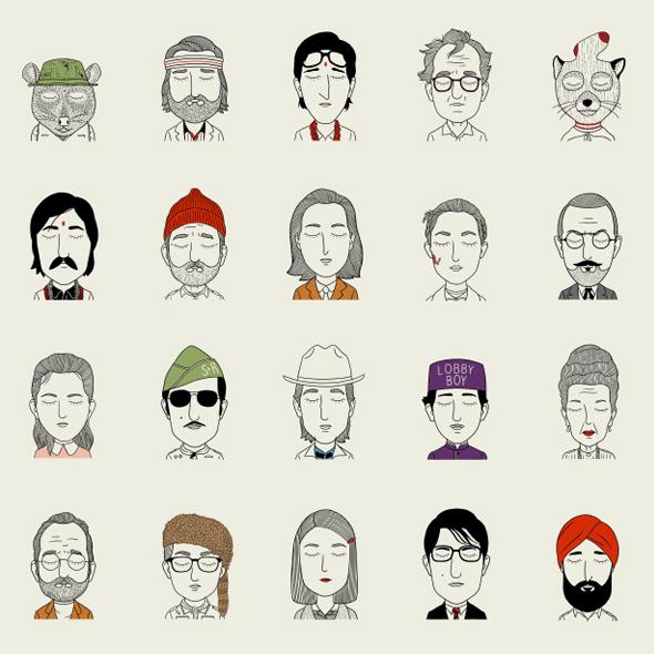 I personaggi di Wes Anderson