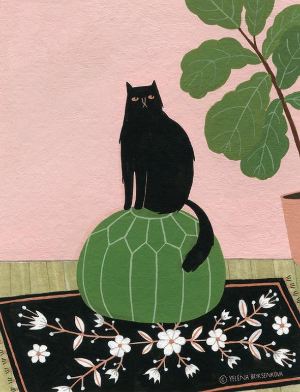 Le illustrazioni naïf di Yelena Bryksenkova